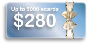 Up to 5000 ecards $280