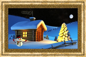Click to preview the Christmas Cabin ecard