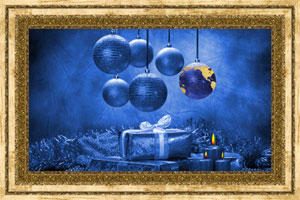 Click to preview the Christmas Globe - Blue ecard