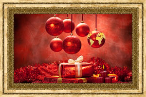 Click to preview the Christmas Globe - Red ecard