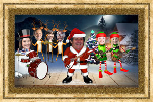 Click to preview the Santa Rocks (Your Faces) ecard