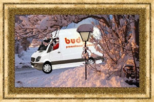 Click to preview the Christmas Lamp Van ecard