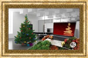 Click to preview the Christmas Laptop Tree ecard