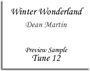 Winter Wonderland - Dean Martin