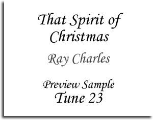That Spirit of Christmas - Ray Charles